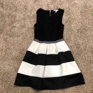 Lace top flow dress